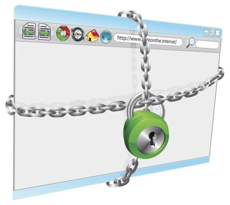 Sicurezza del Internet royalty illustrazione gratis