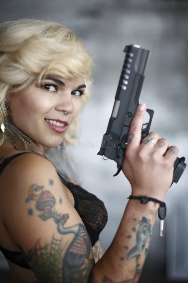 Sicurezza della pistola fotografie stock libere da diritti