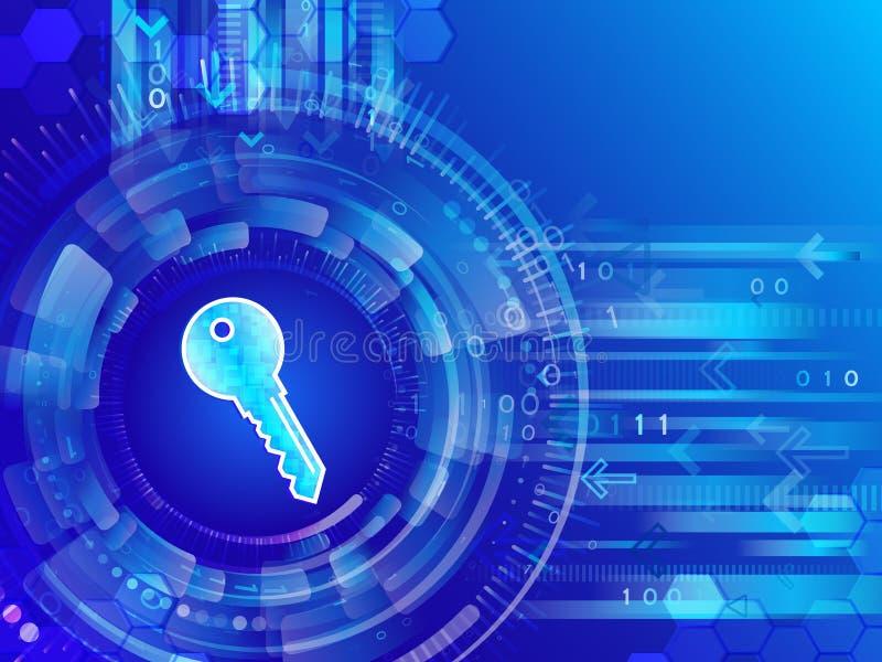 Sicurezza della rete globale Protezione dei dati cyber del techn di affari royalty illustrazione gratis