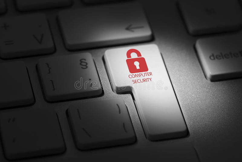 Sicurezza di Interner immagine stock