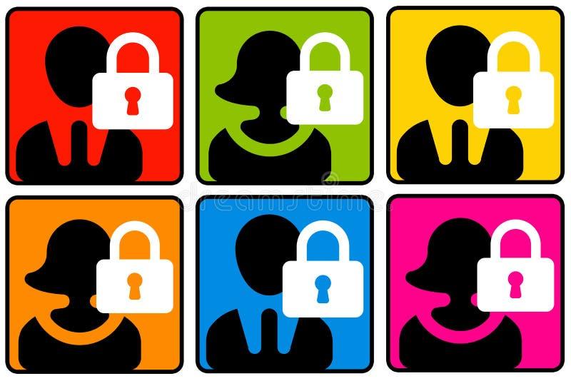 Sicurezza di profilo royalty illustrazione gratis