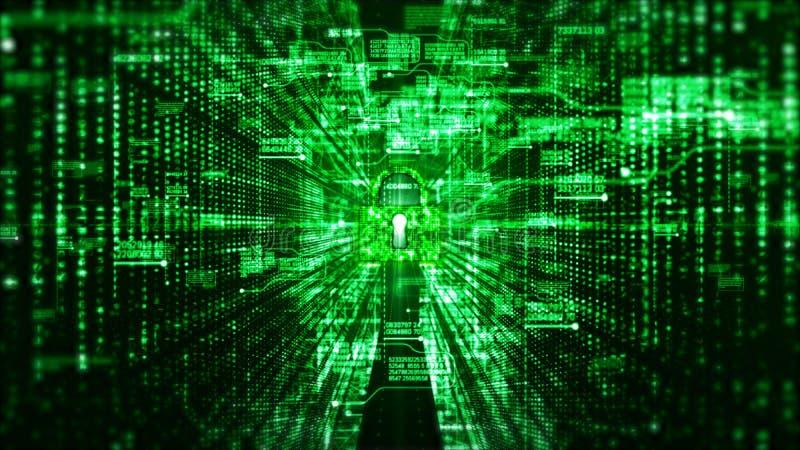 Sicurezza digitale di Ciao-tecnologia e fondo di dati della rete di tecnologia e di concetto di comunicazione immagine stock libera da diritti