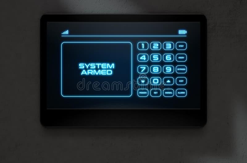 Sicurezza domestica interattiva moderna illustrazione vettoriale