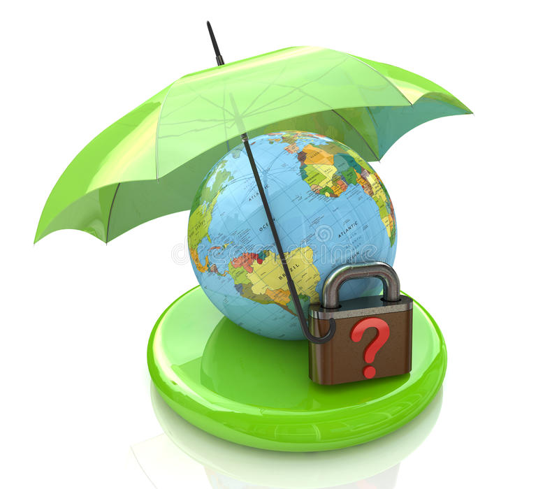 Sicurezza globale di domanda illustrazione di stock