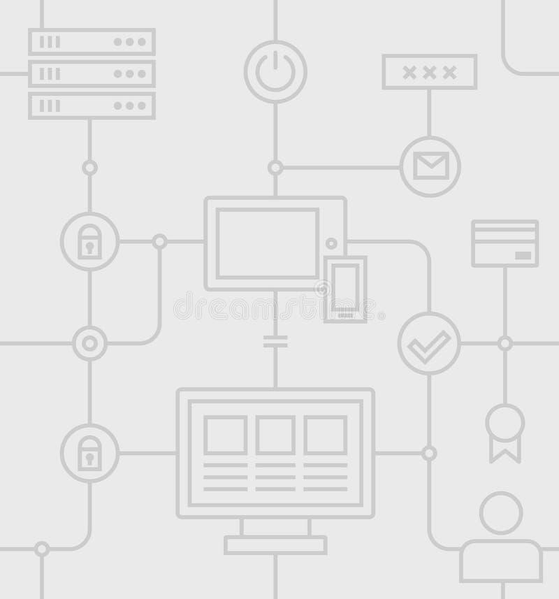 Sicurezza Grey Pattern di Internet royalty illustrazione gratis
