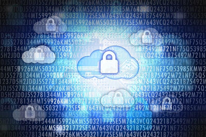 Sicurezza o protezione dei dati di calcolo della nuvola immagine stock