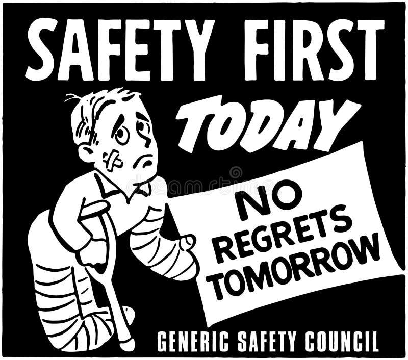 Sicurezza prima royalty illustrazione gratis
