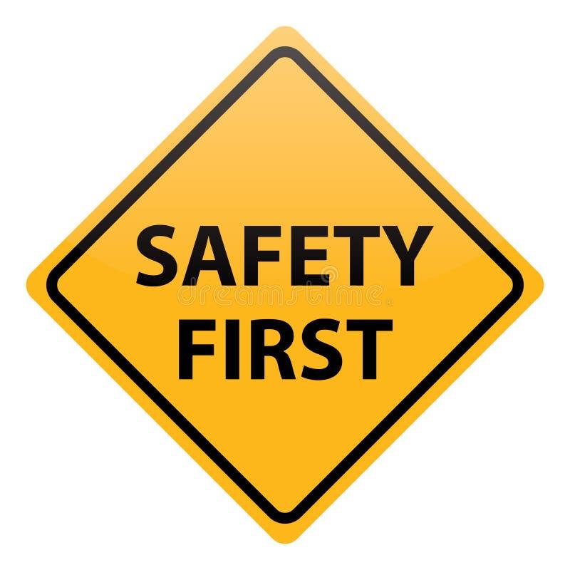 Sicurezza prima di vettore illustrazione di stock