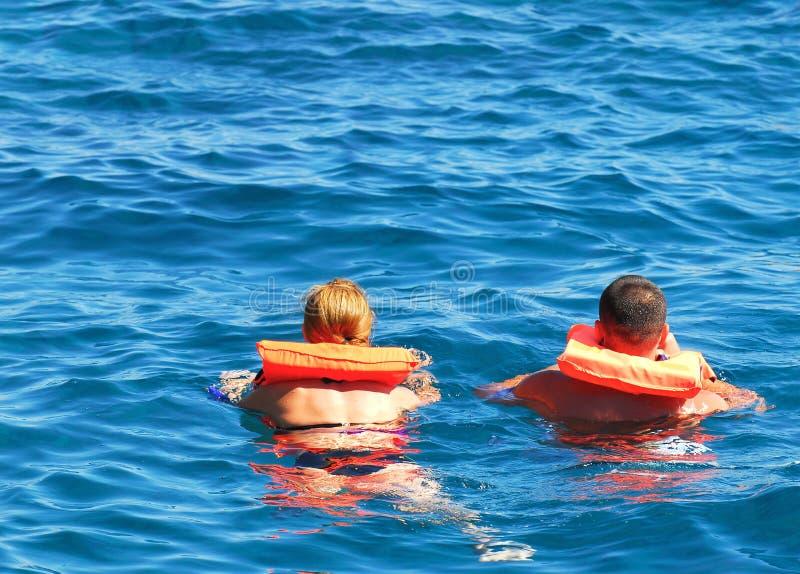 Sicurezza su acqua immagine stock
