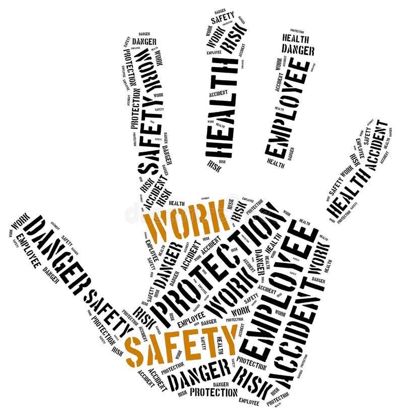 Sicurezza sul posto di lavoro il concetto Illustrazione della nuvola di parola