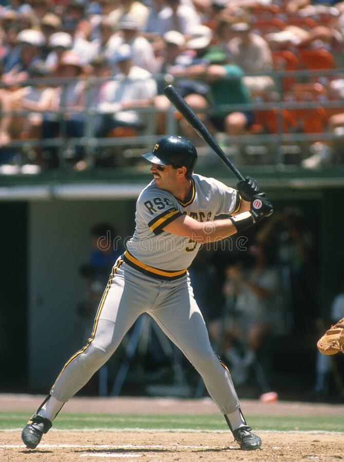 Sid Bream. Pittsburgh Pirates first baseman Sid Bream.  Image taken from color slide stock images