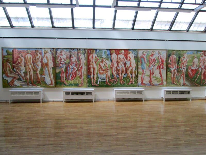 SID, SERBIE - 2 MAI : Peintures en Art Gallery Sava Sumanovic, Sid photos stock
