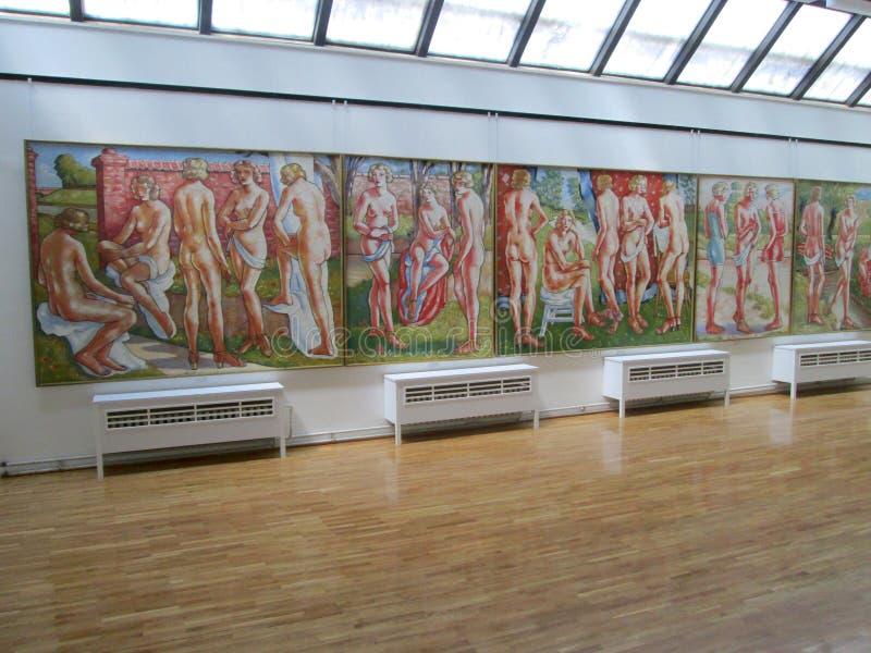 SID, SERBIEN - 2. MAI: Malereien in Art Gallery Sava Sumanovic, SID lizenzfreies stockfoto
