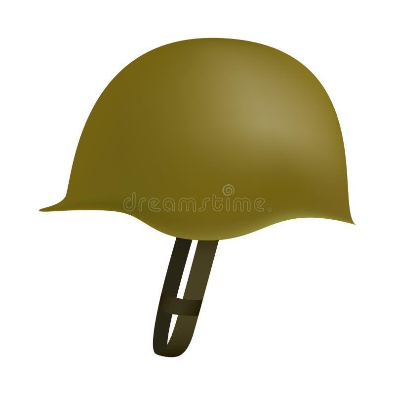 Sida av arméhjälmmodellen, realistisk stil vektor illustrationer
