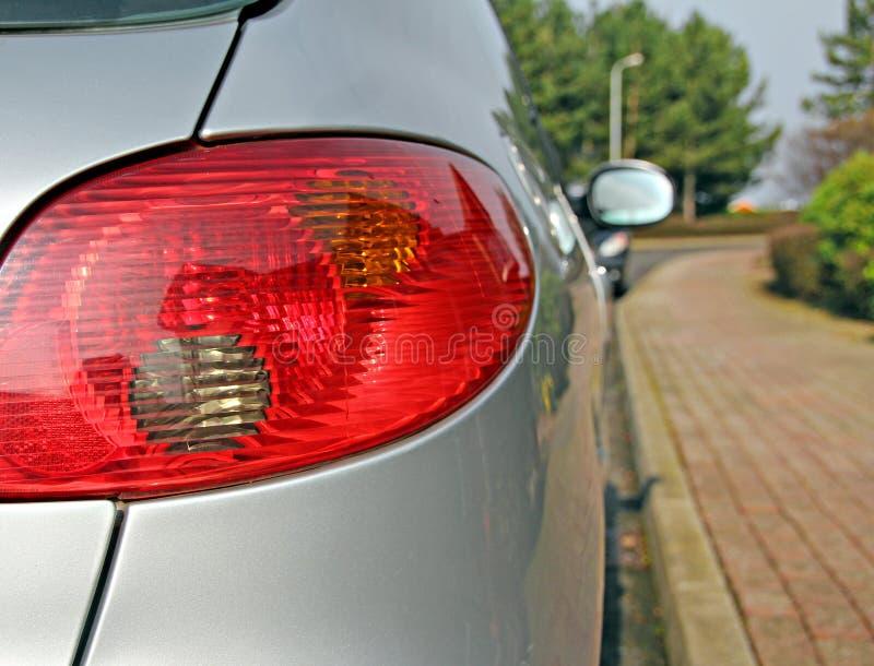 sida av den parkerade bilen royaltyfri fotografi