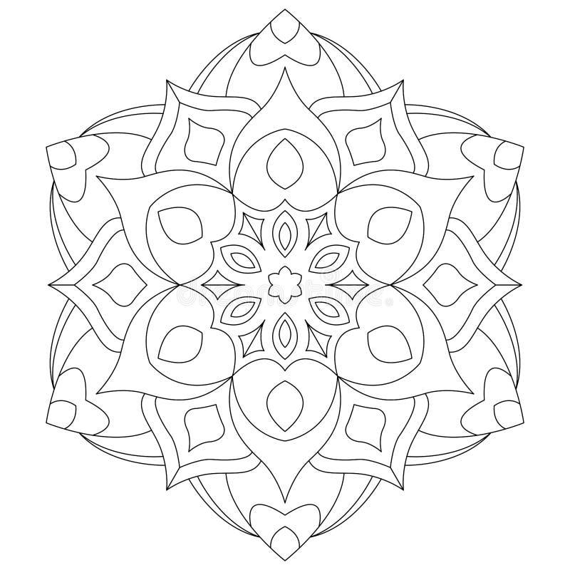 Sida för bok för mandala-/Zentangle cirkelfärgläggning för vuxna människor - tatueringen skissar vektor illustrationer