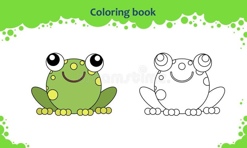 Sida för färgläggningbok för ungar royaltyfri illustrationer