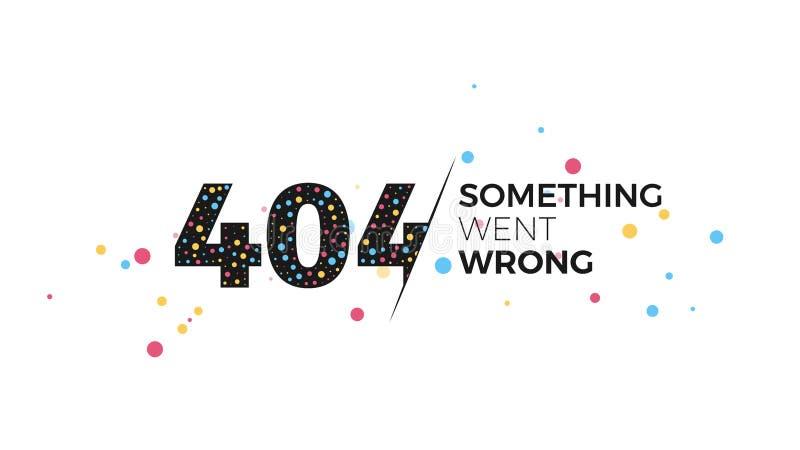sida för 404 fel royaltyfri illustrationer