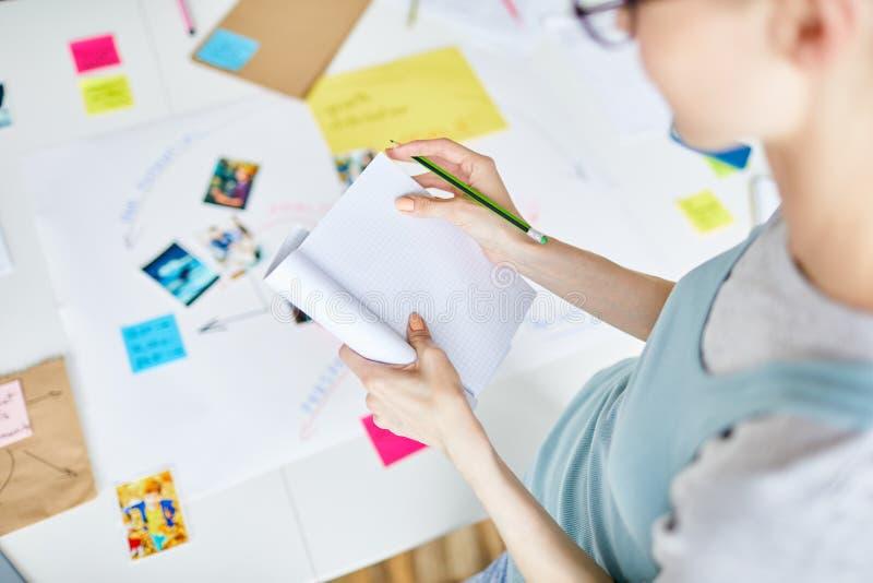Sida för idéer arkivfoton