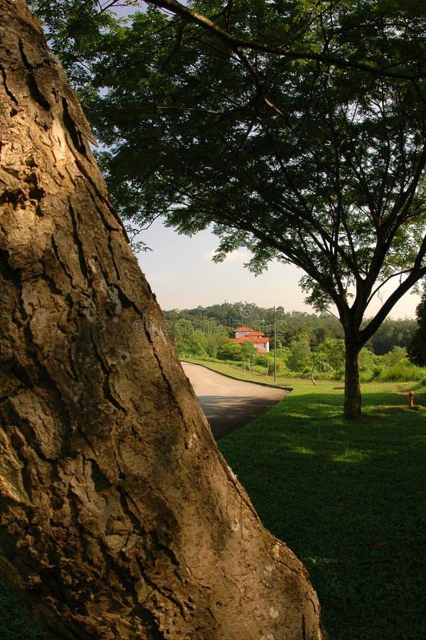 sida för landshus arkivfoto