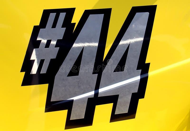sida för nummer för 44 bil tävlings- royaltyfri bild