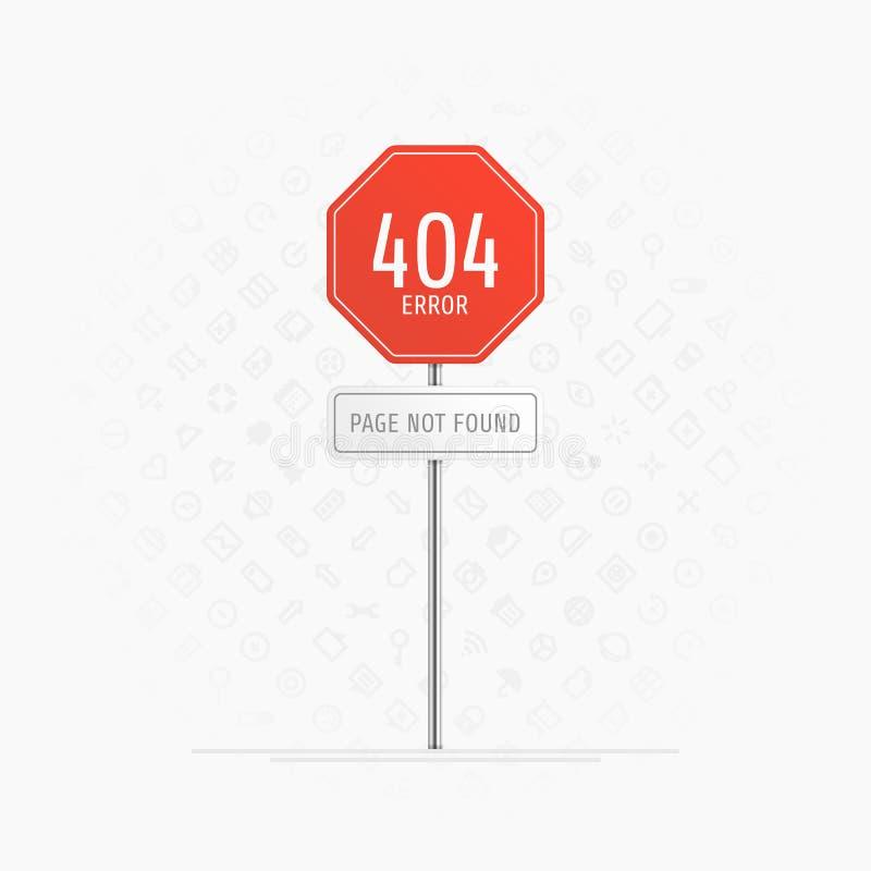 Sida med ett fel 404 vektor illustrationer