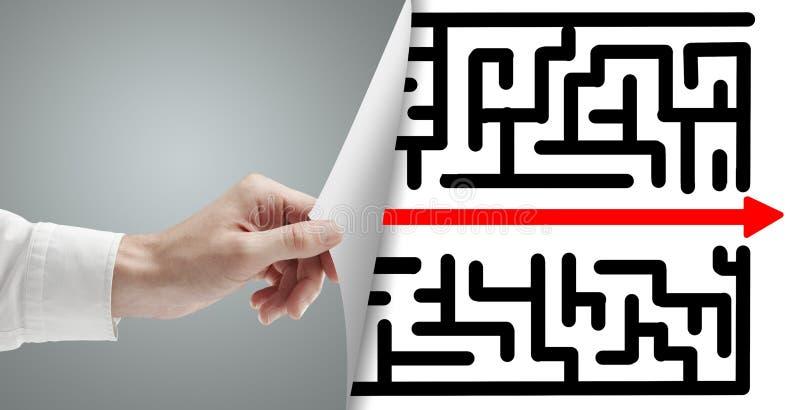 Sida med labyrint arkivbild