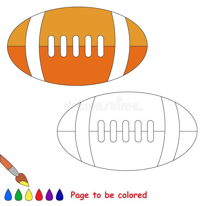 Sida som ska färgas, enkel utbildningslek för ungar royaltyfri illustrationer