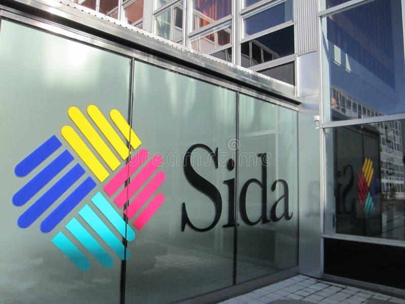 SIDA- Swedish International Development Cooperation Agency. Headquarter offices of the Swedish International Development Agency in Stockholm Sweden royalty free stock photo