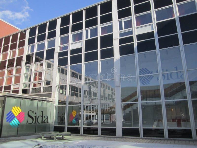 SIDA- Swedish International Development Cooperation Agency. Headquarter offices of the Swedish International Development Agency in Stockholm Sweden royalty free stock photography