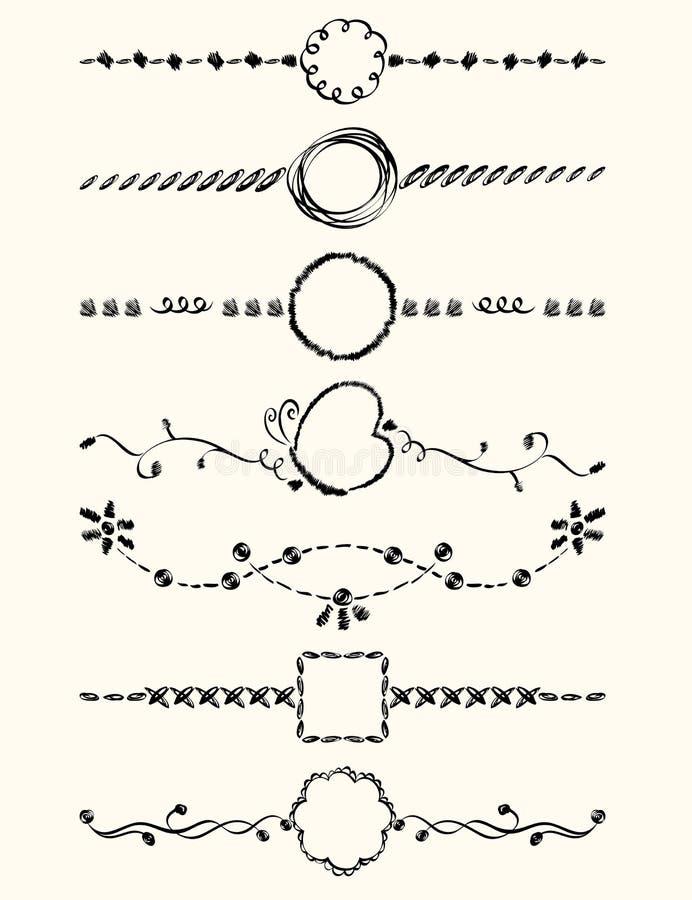 Sidagarnering vektor illustrationer