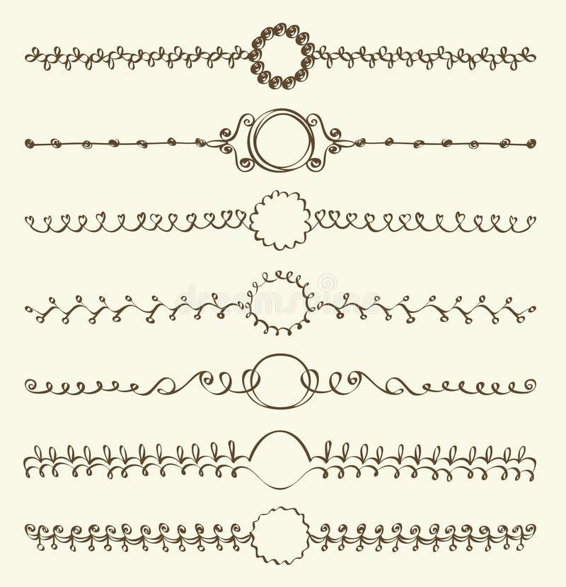 Sidagarnering stock illustrationer