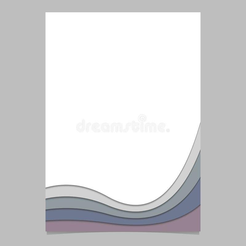 Sidamall från krökta band - grafisk design för vektoraffisch med effekt för skugga 3d royaltyfri illustrationer