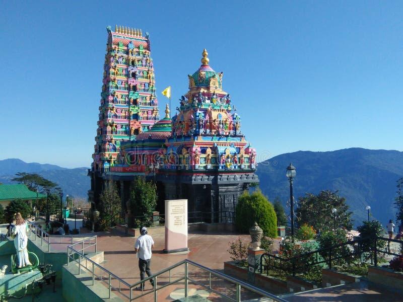 Siddheshwara Dham寺庙  免版税图库摄影