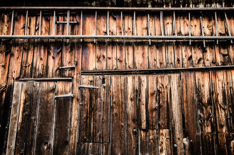 Side of the barn stock photography