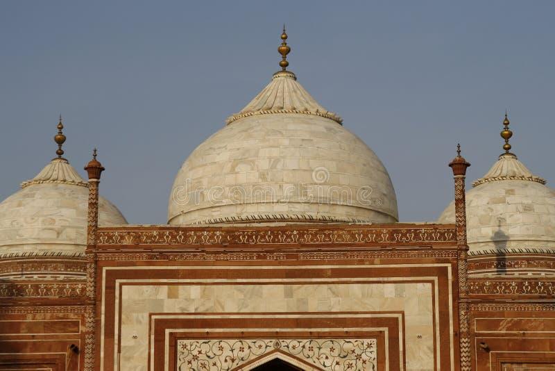 The side building in the Taj Mahal, India
