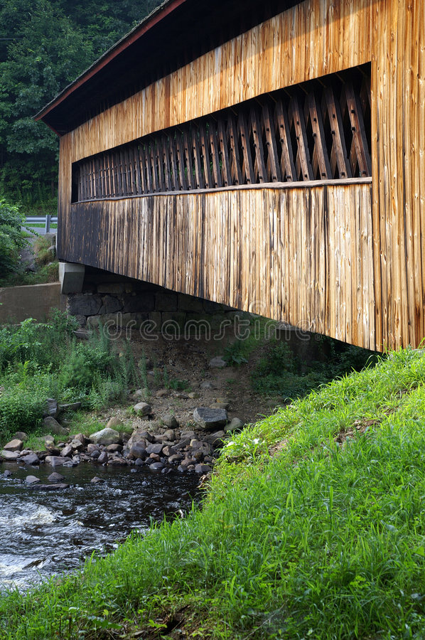 Download Side of covered bridge stock photo. Image of stream, gilbertville - 1029320