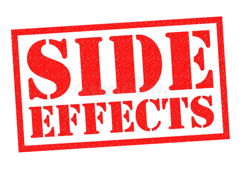 SIDE EFFECTS. Red Rubber Stamp over a white background royalty free illustration