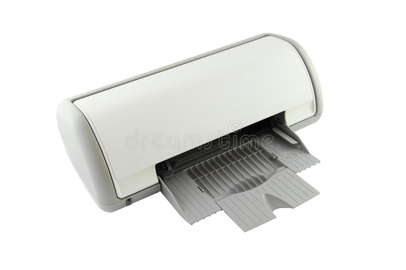 Download Side of empty tray printer stock image. Image of machine - 23603001