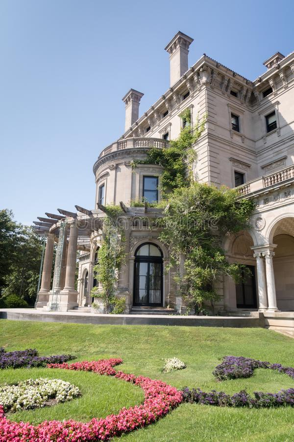 The famous Vanderbilt Breakers mansion in Newport, Rhode Island. stock image