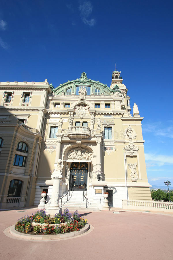 Side entrance of The Monaco's Casino stock images