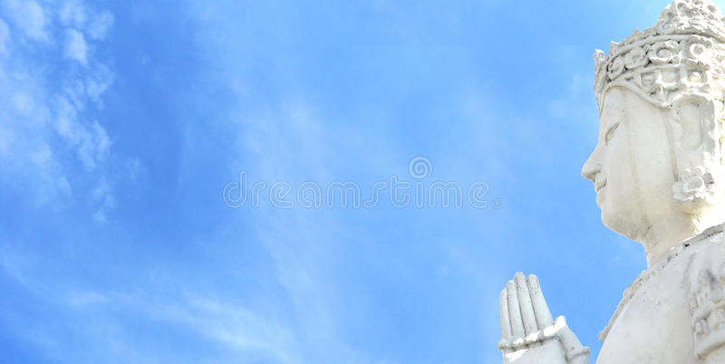 Side face of Buddha royalty free stock photos