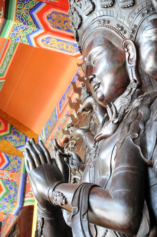 Free Side Face Of Thousands Hands Guanyin Stock Images - 5061274