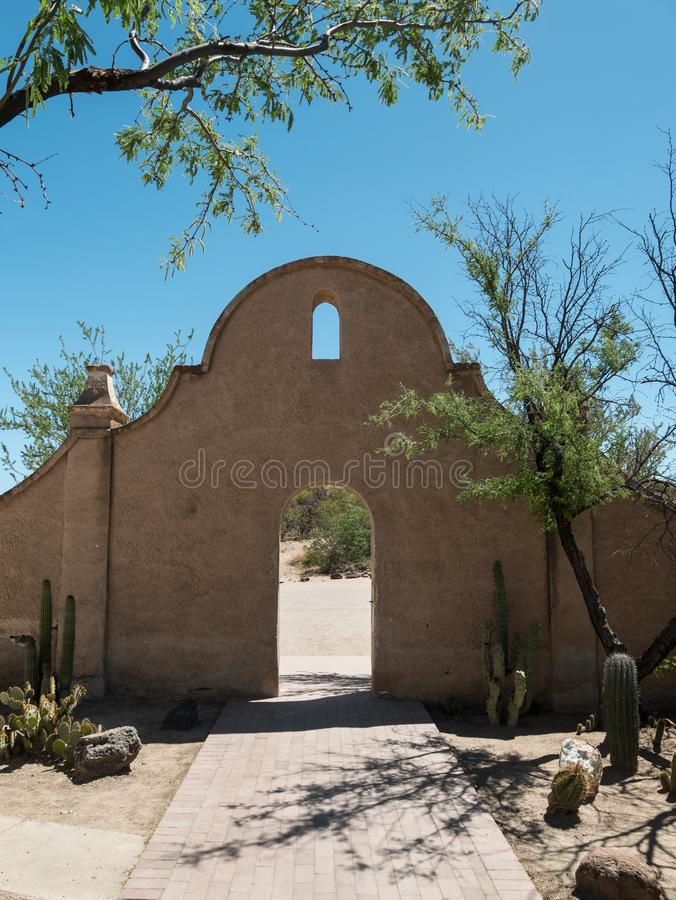 Church grounds at Mission San Xavier del Bac royalty free stock photo