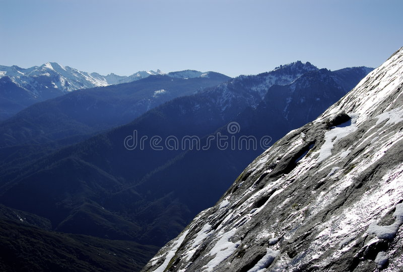 Side of Moro Rock stock photography