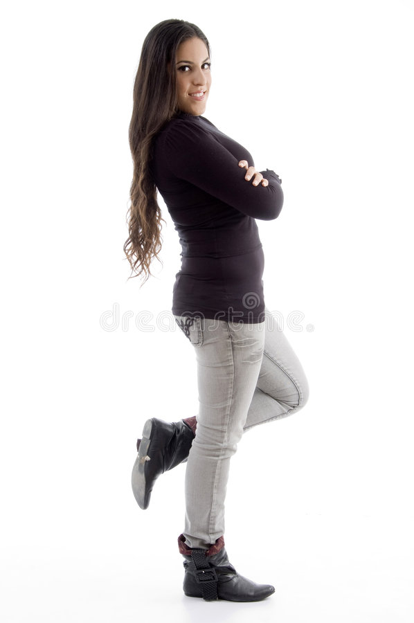 Download Side Pose Of Standing Woman Stock Images - Image: 7206664
