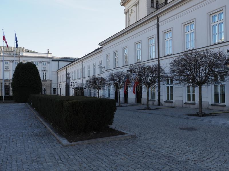 Side of Presidential Palace in Warsaw european capital city of Poland stock photos