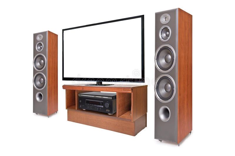 Side shot of home cinema system royalty free stock image