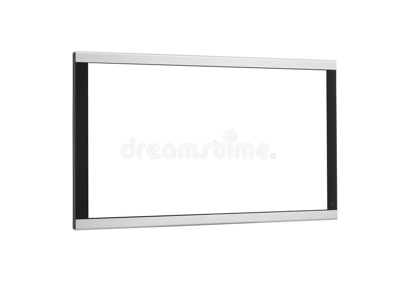 Side shot of plasma tv screen isolated stock photos