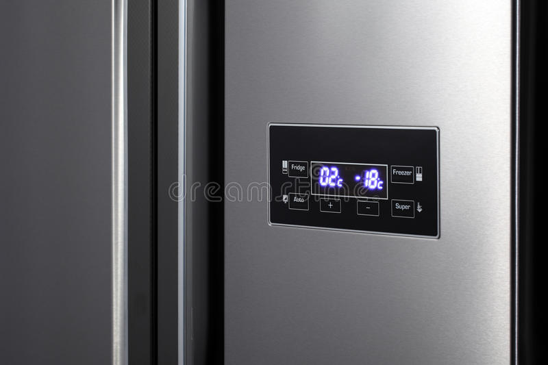 Side-by-side refrigerator. royalty free stock photo